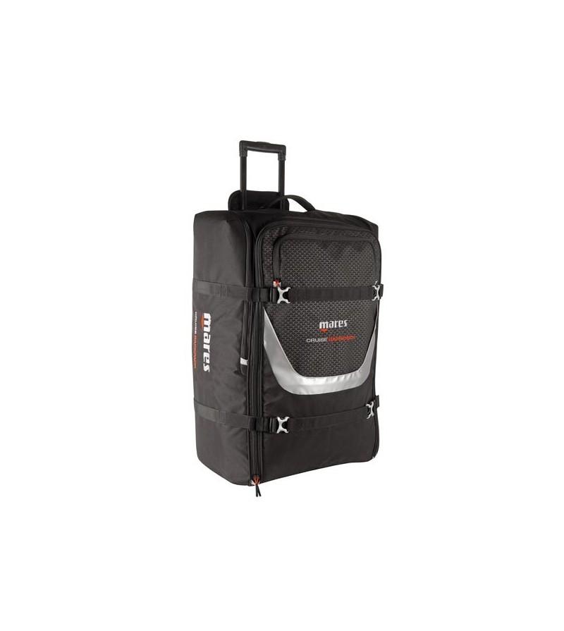 Grand sac à dos de plongée à roulettes avec poignée télescopique Mares Cruise Backpack d'un volume de 100 litres