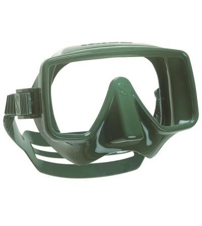 Masque de plongée monoverre Scubapro Frameless de forme rectangulaire - Vert militaire