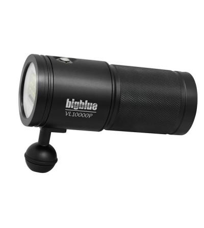 Phare de plongée à LED bigblue VL10000P 10000 lumens pour l'exploration, photo/vidéo sous-marine - 4 niveaux d'intensité
