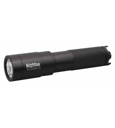Lampe de plongée à LED bigblue AL1200NP Tail 1200 lumens avec accu rechargeable pour l'exploration - faisceau étroit