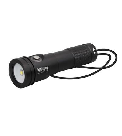 Lampe de plongée à LED bigblue AL1200XWP II avec accu rechargeable pour l'exploration - faisceau large