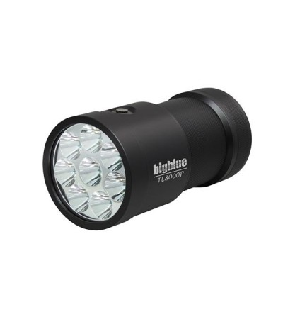 Phare de plongée à LED bigblue TL8000P pour l'exploration et la plongée Tech - 4 niveaux d'intensité, faisceau étroit