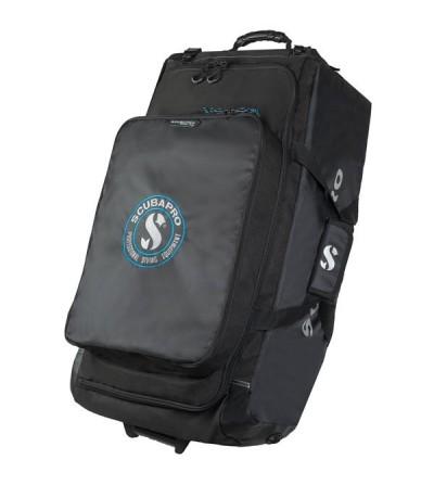 Sac à roulettes ou sac à dos de plongée à grand volume Scubapro Porter Bag 125 litres pliable avec roues tout-terrain