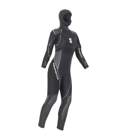 Combinaison humide de plongée Scubapro Definition 7mm pour femme avec cagoule attenante pour l'eau froide