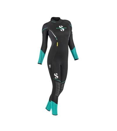 Combinaison humide de plongée Scubapro Sport 3mm (2ème génération) pour femme, souple et confortable comme une seconde peau