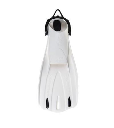Palmes réglables de plongée Scubapro Go Sport. Légères et peu encombrantes, parfaites pour les voyages - Blanc