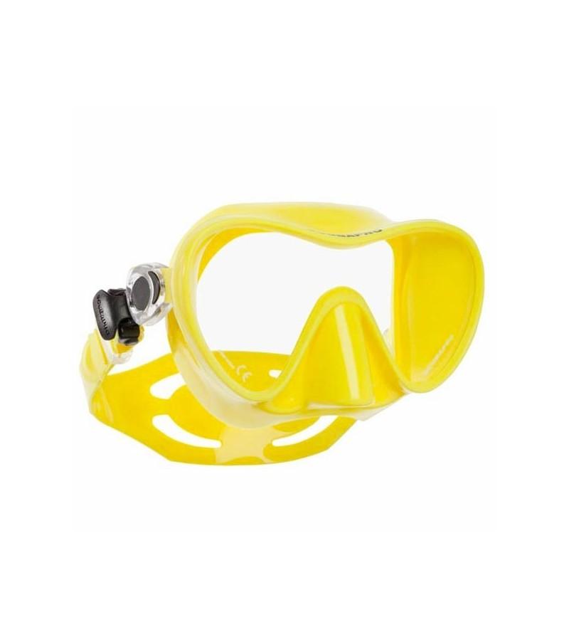 Masque de plongée monoverre à volume réduit Scubapro Trinidad 3 au design moderne sans cerclage avec jupe en silicone - jaune