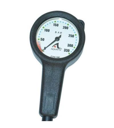 Manomètre de plongée Aquatys 330 bars diamètre 65mm avec cadran phosphorescent