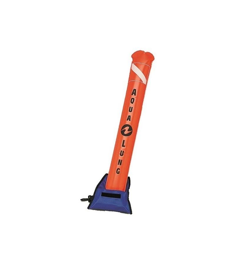 Parachute classique de palier lesté en nylon orange Aqualung sans soupape pour signalisation en surface
