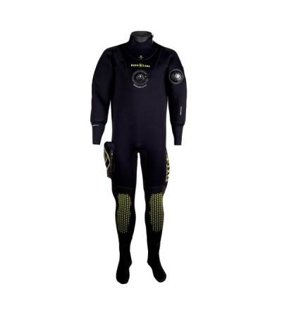 Combinaison étanche vêtement sec avec bottes d'entrée de gamme Aqua Lung Blizzard en néoprène compressé 4mm pour homme