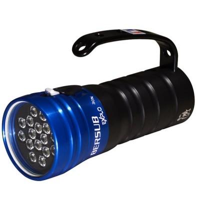 Phare de plongée à LED Bersub Explo 16 à accu rechargeable Lithium-ion pour l'exploration sous-marine dans toutes les conditions