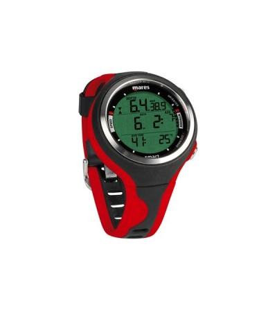 Montre ordinateur multigaz de plongée Mares Smart avec mode apnée - Noir/Rouge