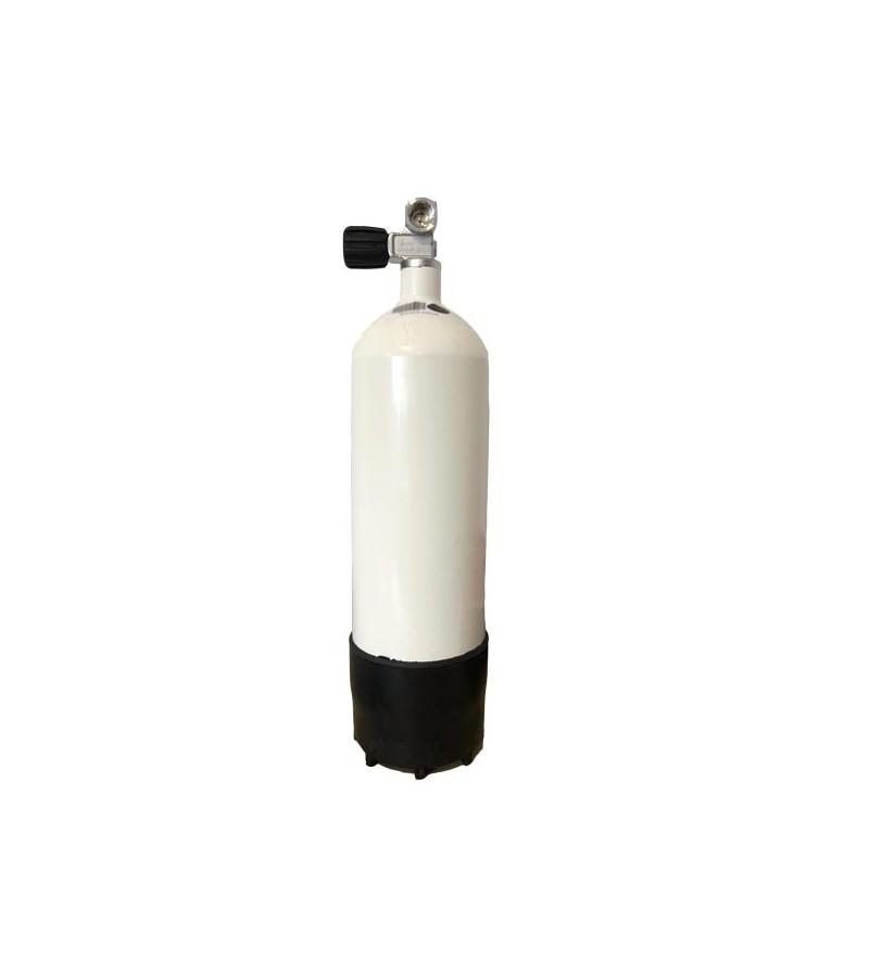 Mono bouteille de plongée bloc acier 5 litres avec pression de service 232 bars et robinet gauche à 1 sortie