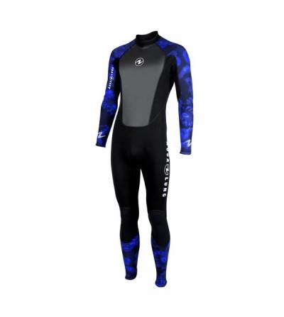 Combinaison Homme monopièce humide de plongée Aqua Lung Bali 3mm pour la plongée & snorkeling en eau tiède à chaude