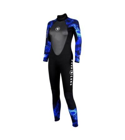 Combinaison Femme monopièce humide de plongée Aqua Lung Bali 3mm pour la plongée & snorkeling en eau tiède à chaude
