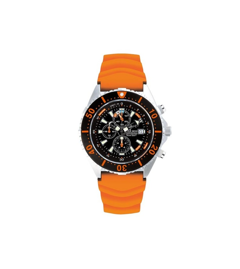 Montre Chris Benz DEPTHMETER Chronograph 300M - orange