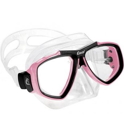 Masque Cressi Focus en silicone transparent ou noir pour la plongée, l'apnée & le snorkeling. En jaune, bleu, rose, noir