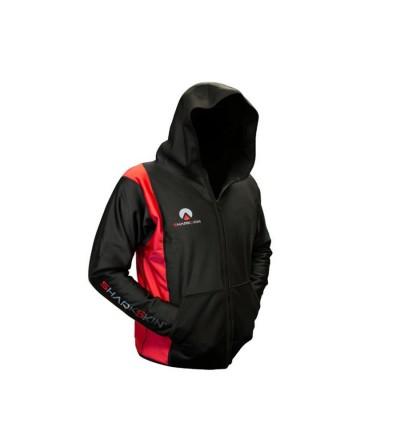 Shark Skin - Veste outdoor noire et rouge homme Chillproof avec capuche