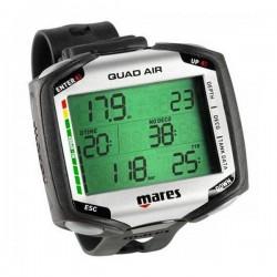 Ordinateur de poignet Mares Quad pour la plongée en eau douce ou salée à l'air, nitrox ou multigaz + transmetteur sans fil