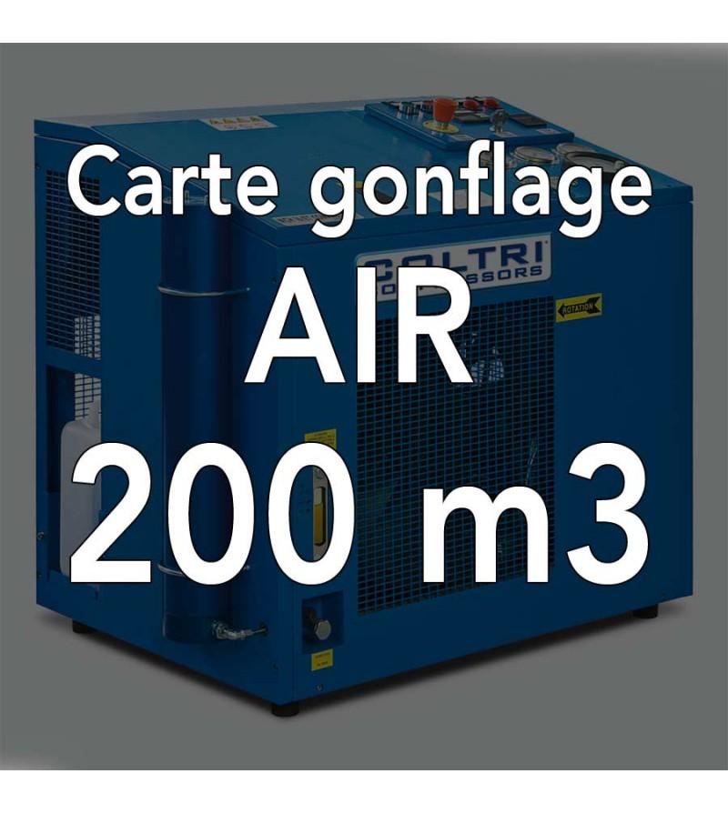 Carte de gonflage à l'air 200m3 - Atelier de la Mer, Gonflage bouteille Marseille Pointe Rouge
