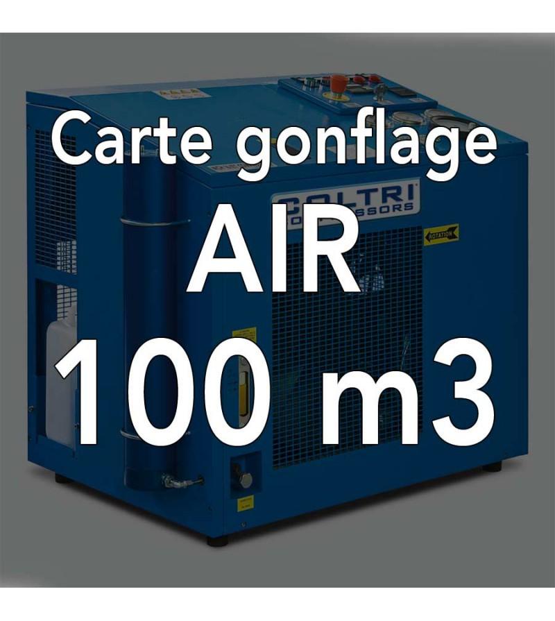Carte de gonflage à l'air 100m3 - Atelier de la Mer, Gonflage bouteille Marseille Pointe Rouge