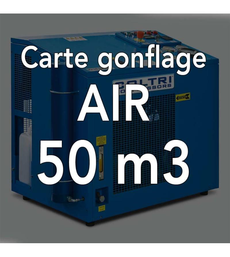 Carte de gonflage à l'air 50m3 - Atelier de la Mer, Gonflage bouteille Marseille Pointe Rouge