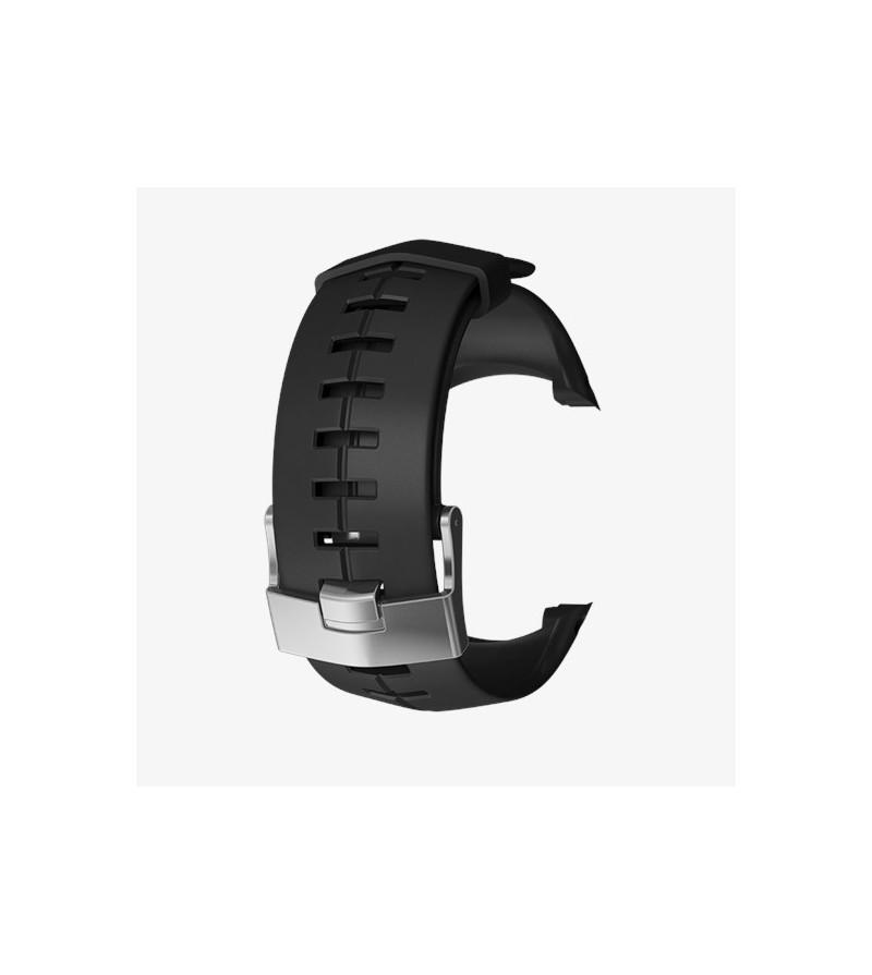 Kit bracelet noir en silicone avec boucle argentée pour Suunto DX Atelier de la Mer Marseille