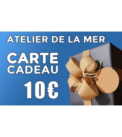 Carte cadeau 10 € Atelier de la Mer
