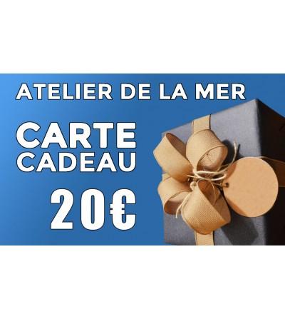 Carte cadeau 20 € Atelier de la Mer
