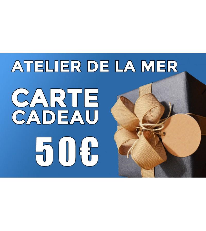 Carte cadeau 50 € Atelier de la Mer