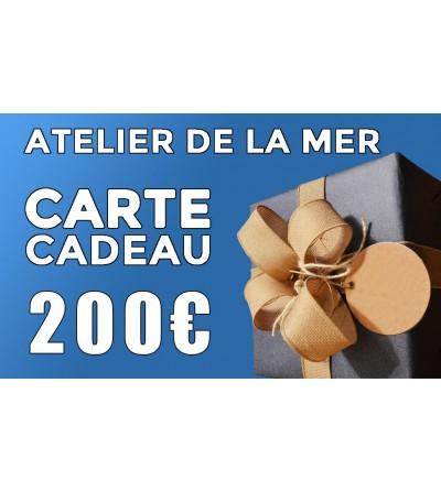 Carte cadeau 200 € Atelier de la Mer