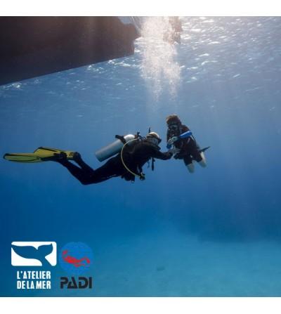 Formation plongée Padi passerelle Scuba Diver vers Open Water Diver - Marseille Atelier de la Mer