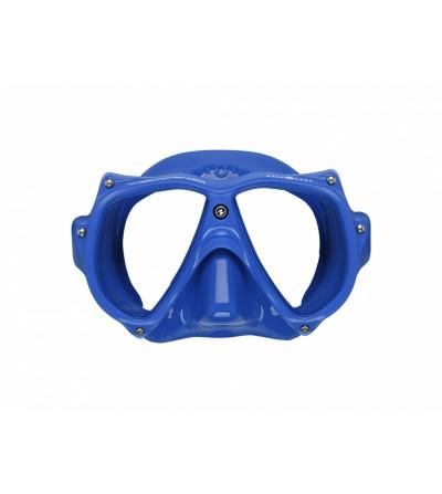 Masque deux verres Aqualung Teknika Bleu avec cerclage vissé, jupe confortable pour la plongée TEK, professionnelle ou loisir
