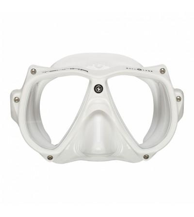 Masque deux verres Aqualung Teknika Blanc avec cerclage vissé, jupe confortable pour la plongée TEK, professionnelle ou loisir