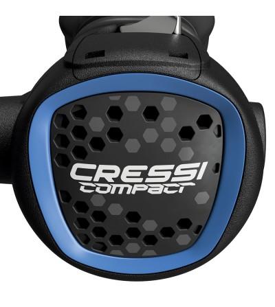 Détendeur voyage léger compensé de plongée très léger Cressi MC9 XS Compact version DIN 300 bars Bleu