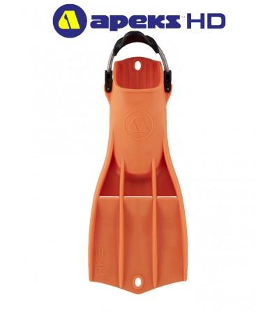 Palmes RK3 HD Apeks  en caoutchouc thermoplastique robuste Orange