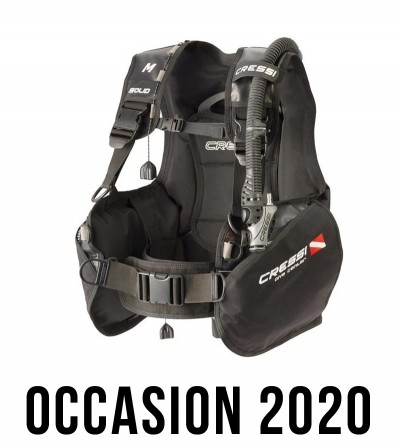 Le gilet stabilisateur de plongée réglable Cressi Solid porte bien son nom. Résistant et sécuritaire. Disponible pour enfant