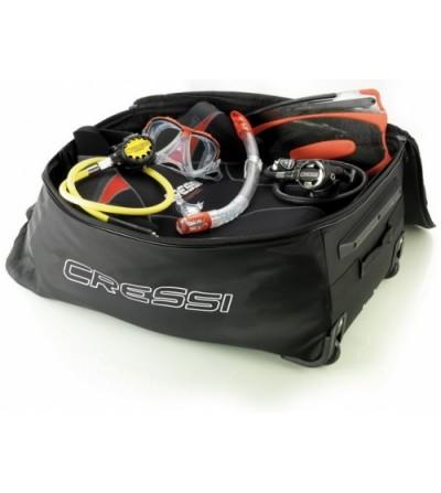 Sac à roulettes mono-compartiment Cressi Moby Light, volume de 85 litres, léger et robuste pour vos voyages en avion