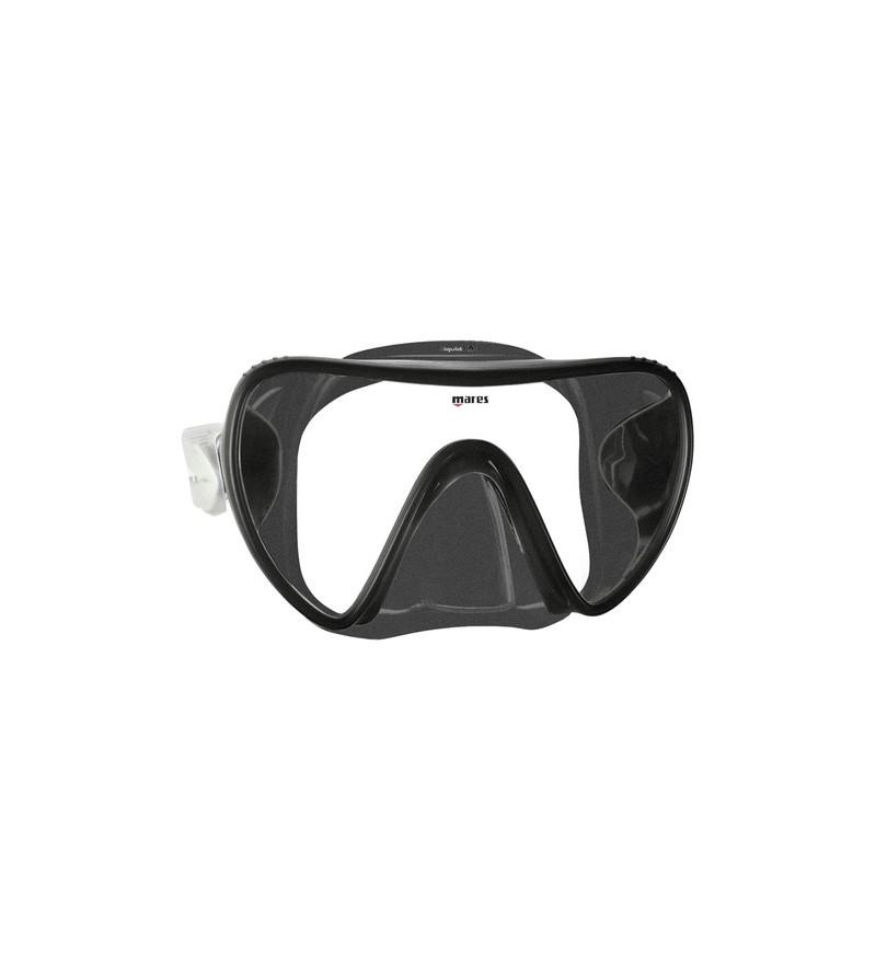 Masque Monoverre sans cerclage Mares Essence en silicone Liquidskin pour la plongeé et le snorkeling - noir