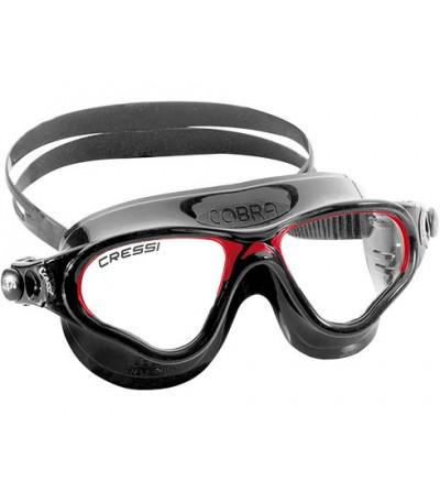 Lunettes de nage Cressi Cobra - noir / rouge