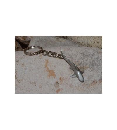 Porte clé requin gris