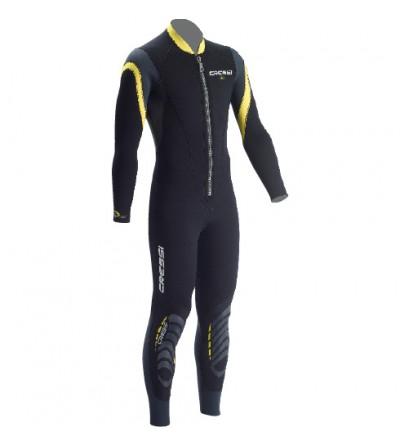 Combinaison monopièce de plongée à fermeture Zip devant pour eaux chaudes Cressi Lui 2.5mm pour Homme