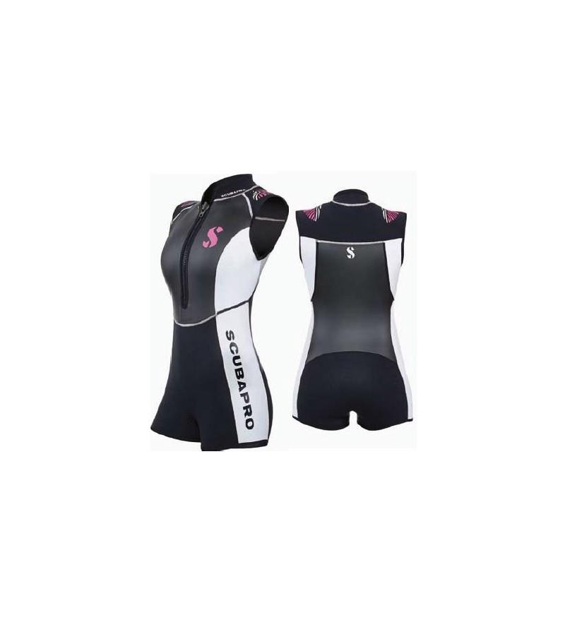 Combinaison Shorty Scubapro Hybrid 2mm Femme pour la plongée & le snorkeling en eau chaude - Chic et raffiné