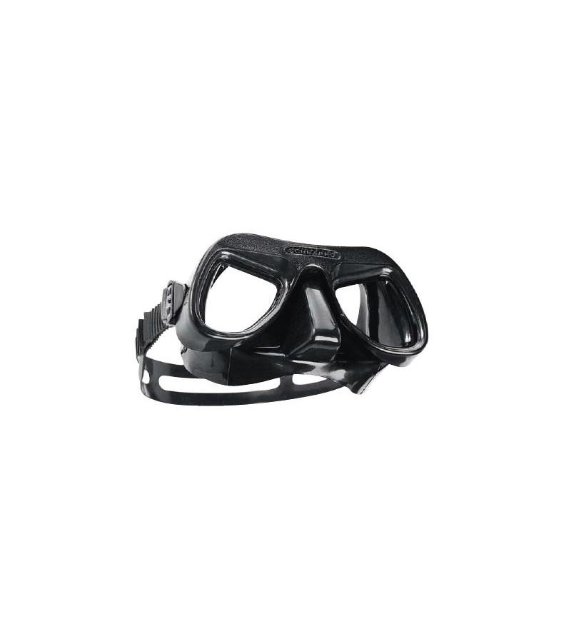 Masque deux verres Scubapro Futura 1 en silicone noir et à volume très faible pour la plongée, la chasse sous-marine et l'apnée