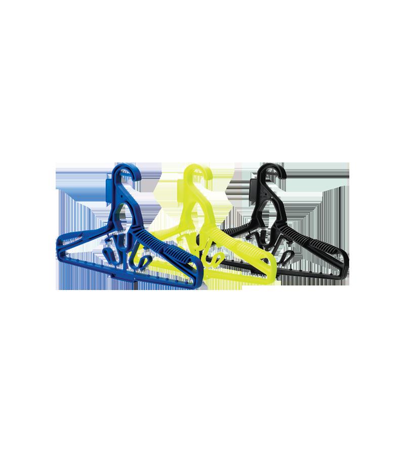 Cintre Scubapro permettant de suspendre plusieurs éléments en même temps, combinaison, gilet stab, chaussons, détendeur
