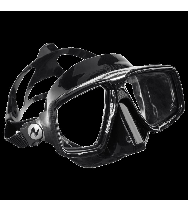 Masque deux verres Aqualung Look HD avec jupe en silicone noir - Cerclage noir