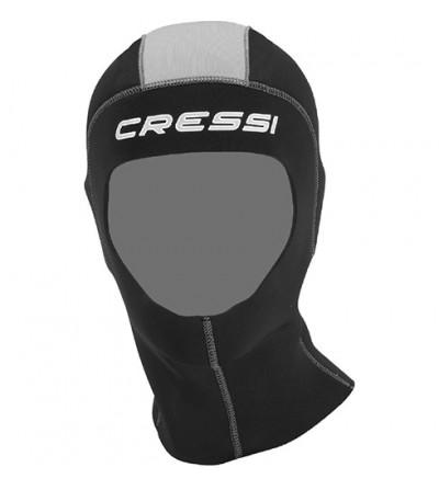 Cagoule de plongée en néoprène 5mm pour combinaison Cressi Castoro Plus 7mm et Castoro 5mm - Modèle homme