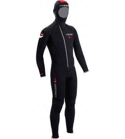 Combinaison de plongée humide monopièce avec cagoule attenante Cressi Diver épaisseur 5mm - modèles homme, femme, enfant