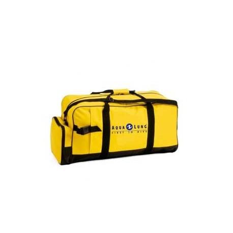 Sac de plongée classique robuste Aqualung Classic 95 litres avec poches à palmes et pour document de couleur noir & jaune