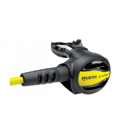Détendeur secours Octopus Mares Prestige avec système VAD et flexible superflex jaune pour plus de confort